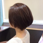 縮毛矯正で、がっつり丸みをつける、Cueでしてみました。