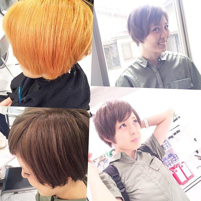 カラースペシャリスト講習も残す所あと1回! 今日はブリーチを使って透明感と柔らかさのあるヘアスタイルを作りました!! 髪の毛がオレンジっぽくなりやすい人に、とってもおすすめです♫#グレージュ#ヘアカラー#イノセントカラー#ダブルカラー#モードネイビー