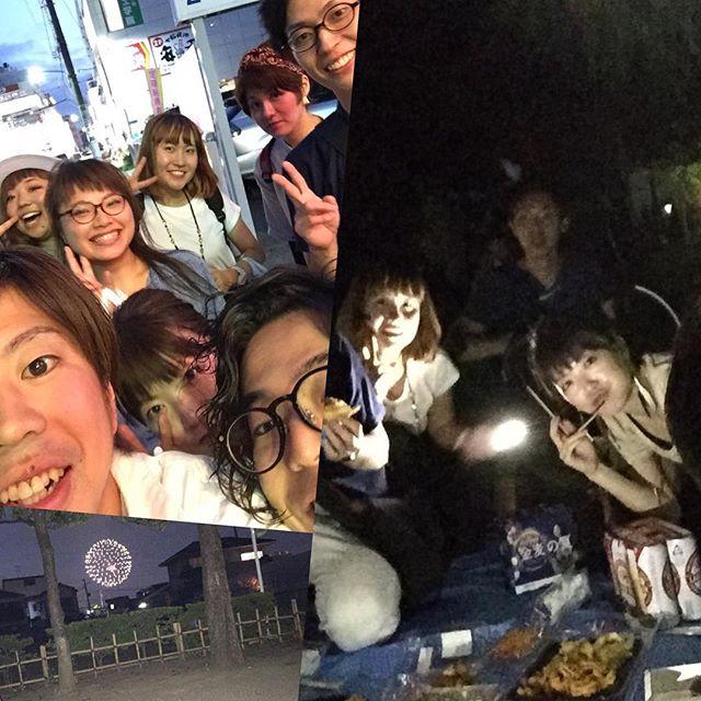 今日は、江戸川の花火大会、こうやって、スタッフみんなで、楽しめる所も、醍醐味のひとつです(^^)