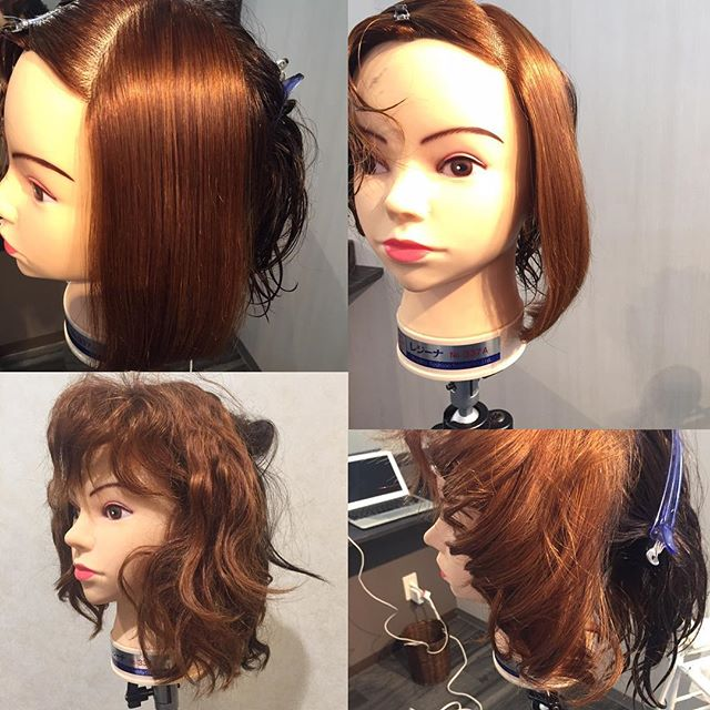 バッサバッサに傷んだ髪にも、「Cue」を使って縮毛矯正、毛先には自然な丸みも付けてみます!ツヤ感と柔らかさがとっても良い感じ♬#dearlogue #ディアローグ #Cue#縮毛矯正
